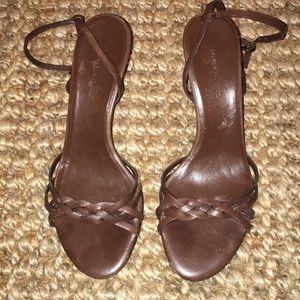 Banana Republic Brown Leather Heels